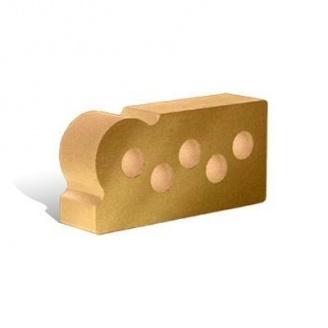 Облицовочный кирпич Литос Гладкий пустотелый Капля 250*120*65 мм слоновая кость