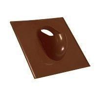 Проходной элемент ПВХ Terran Рундо Зенит 400х400 мм коричневый