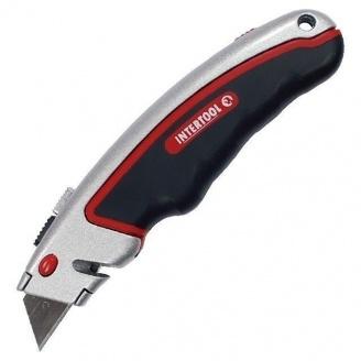 Нож Intertool HT-0516 с выдвижным лезвием (HT-0516)