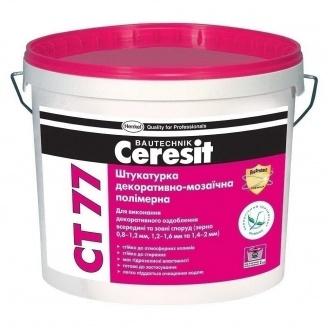 Полимерная мозаичная штукатурка Ceresit CT 77 1,4-2,0 мм 14 кг 65