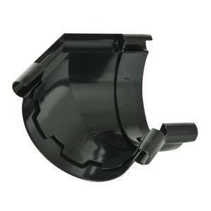 Кут ринви 135° Nicoll 25 ПРЕМІУМ 115 мм чорний
