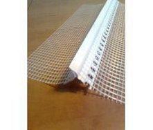Профиль примыкающий с капельником и армирующей сеткой 2 м белый