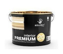 Латексная интерьерная краска Kolorit Interior Premium 20 полуматовая