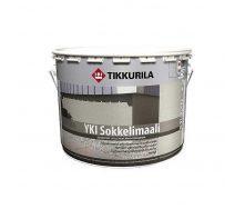 Щелочестойкая акрилатная краска Tikkurila Yki sokkelimaali 9 л глубоко матовая