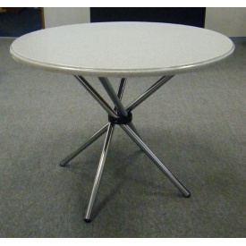 Круглый стол из литого камня мрамора Snail 690 мм