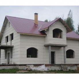 Постройка дома из блока