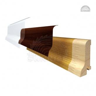 Плинтус деревянный срощенный сосна без шпона 20х60 мм