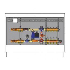 Шафа управління для систем підлогового опалення HERZ підключення зліва 9 відводів (3F53139)