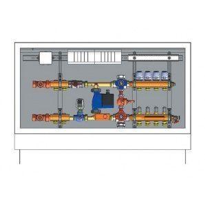 Шафа управління з термоприводами HERZ підключення зліва 5 відводів 230 В (3F53315)