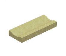 Отлив Золотой Мандарин на сером цементе 500х200х60 мм горчичный