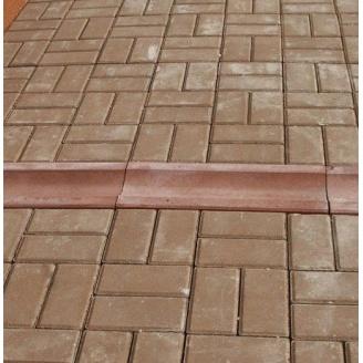 Отлив Золотой Мандарин на сером цементе 500х200х60 мм красный