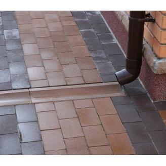 Отлив Золотой Мандарин на сером цементе 500х200х60 мм персиковый