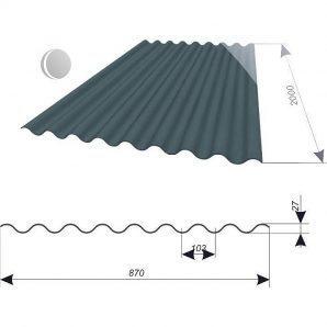 Покрівельний лист Керамопласт-2000 2000x900x4,5 мм сірий