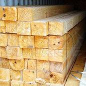 Брус сосновый SUNRISE Ltd 120х120 мм 1 м свежепиленный
