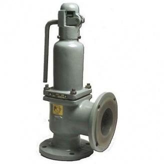Клапан предохранительный пружинный стальной фланцевый СППК4(р) Ру40 Ду 50