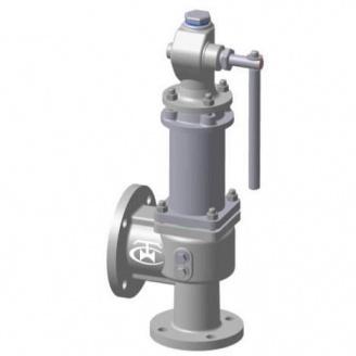 Клапан предохранительный пружинный стальной фланцевый СППК4(р) Ру16 Ду 50