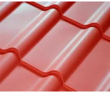 Металлочерепица полиэстер красная