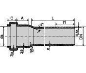 Труба канализационная для внутренней канализации ПВХ 32х1,8 мм