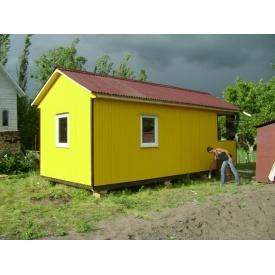 Дачный домик 6-3 С двускатной крышей