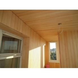 Обшивка балкона вагонкой ольха