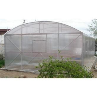 Теплиця з полікарбонату 4,5х9 м прозора