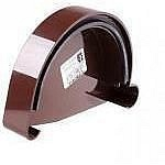 Заглушка желоба левая L Profil 130/100 коричневая