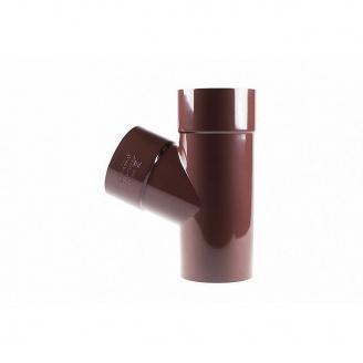 Тройник редукционный 60 градусов Profil 100/75 коричневый