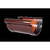 Соединитель желоба с прокладкой Profil 90/75 коричневый