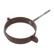 Хомут трубы металлический Альта-Профиль Элит 95 мм коричневый