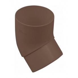 Коліно труби Альта-Профіль Стандарт 67 градусів 74 мм коричневе (5695)