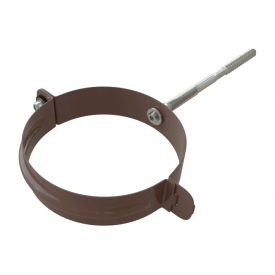 Хомут труби металевий Альта-Профіль Еліт 95 мм коричневий