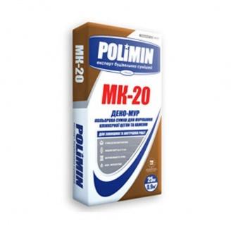 Смесь для кладки Polimin Деко-мур МК-20 25 кг белая