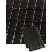Черепиця керамічна Roben Piemont 472х290 мм чорно-коричнева
