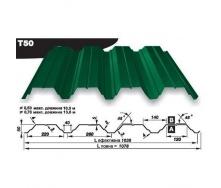 Профнастил несучий Pruszynski Т160 полиэстер 0,7*538*13600 мм Германия (RAL6002/зеленый лист)