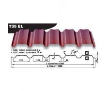 Профнастил стеновой Pruszynski Т35ЕL мат полиэстер 0,7*1090*12000 мм Польша) (RAL3005/винный красный)