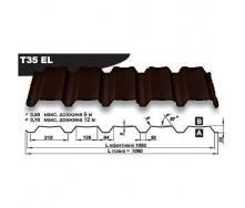 Профнастил стеновой Pruszynski Т35ЕL полиэстер 0,7*1090*12000 мм Польша (RAL8017/шоколадный)