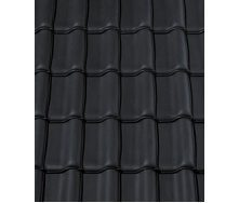 Керамическая черепица CREATON Premion 280х460 мм (black matt engobe slipped)