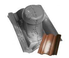 Круглий неутеплений вентиляційний елемент Terran Коппо 110 мм венеція