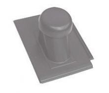 Круглий неутеплений вентиляційний елемент Terran Зеніт 110 мм графіт