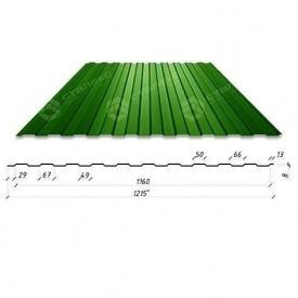 Профнастил Сталекс С-6 1215/1160 мм 0,4 мм PE Китай (RAL6005/зеленый мох)