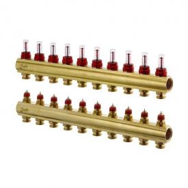 Распределительный коллектор Danfoss FHF-10F c ротаметрами (088U0530)