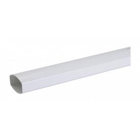 Труба водостічна Nicoll 28 OVATION 80 мм білий