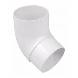 Коліно труби Альта-Профіль Стандарт 45 градусів 74 мм білий