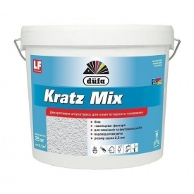 Штукатурка Dufa Kratz Mix15 25 кг білий