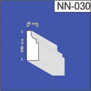 Наличник з пінополістиролу Валькірія 40х100 мм (NN 030)
