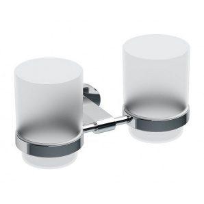 Держатель для зубных щеток RAVAK Chrome с двумя стаканами 95х189 мм