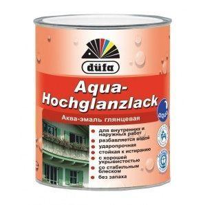 Эмаль Dufa Aqua-Hochglanzlack 0,75 л белый