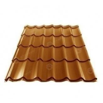 Металлочерепица Сталекс GRAND 0,45 мм PE Китай (Sutor Steel) (RAL8004/медно-коричневый)