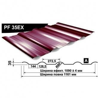 Профнастил стеновой Pruszynski PF 35EX мат полиэстер 1161 мм Германия (RAL8019/серо-коричневый)