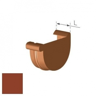 Заглушка права Gamrat 125 мм цегляна